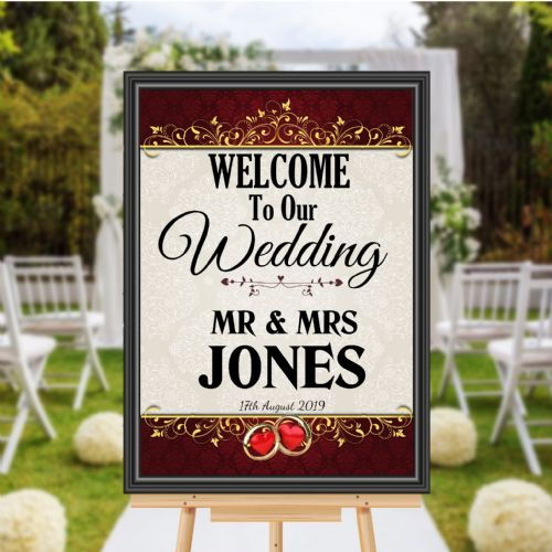 Personalised Welcome to our Wedding Sign Poster Banner - Print N175
